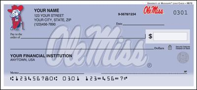 University Of Mississippi Personal Checks
